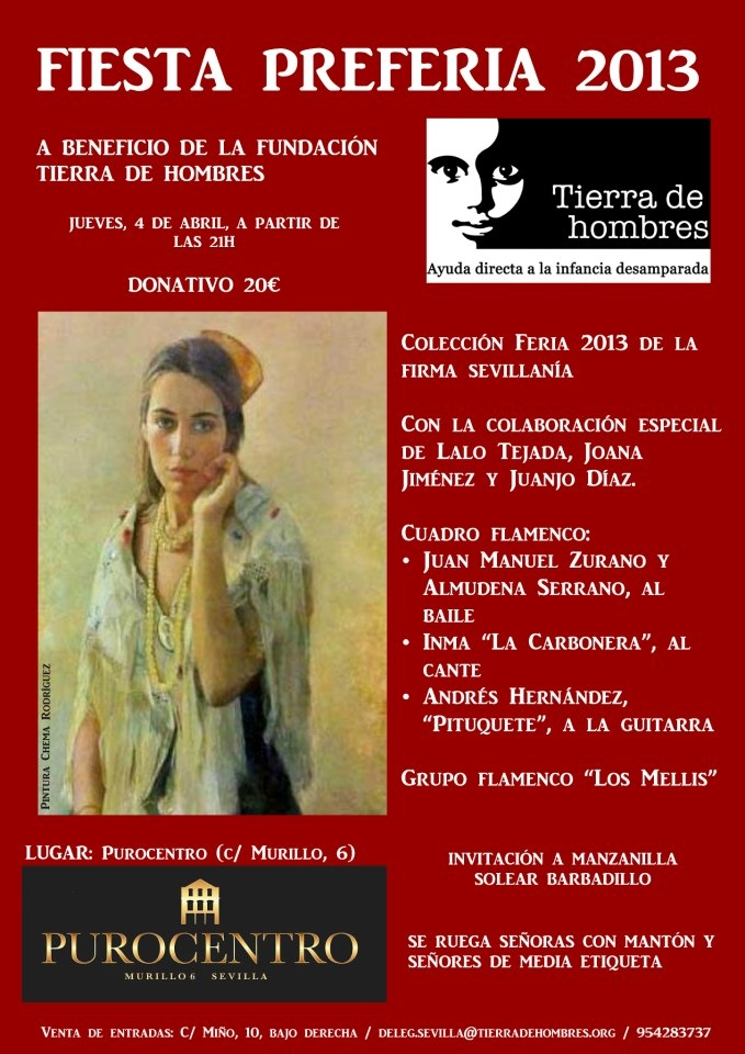 Fiesta preferia organizada por Tierra de hombres Andalucía