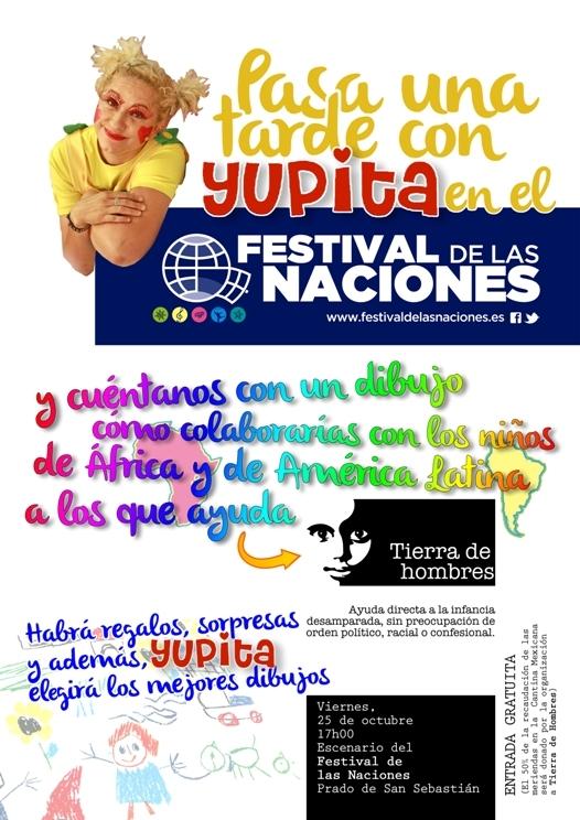 Cambio de fecha. Yupita actua el sábado 2 de noviembre en el Festival de las Naciones a beneficio de Tierra de hombres
