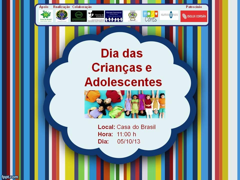 Gymkana Derechos de la Infancia en la Casa do Brasil el sábado 5 de octubre