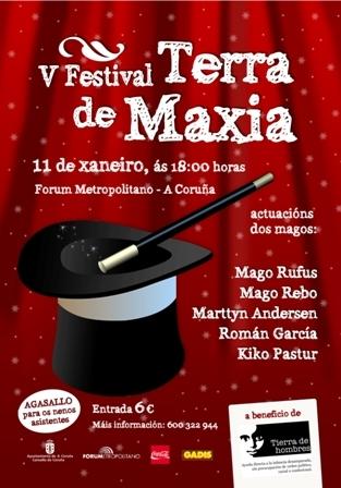 """Tierra de hombres Galicia celebra el """"5º Festival Tierra de Magia"""" en A Coruña"""