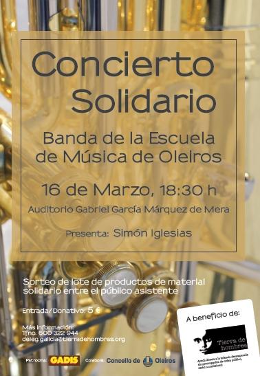 Concierto solidario el 16 de marzo en Oleiros