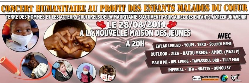 Concierto en Mauritania por la infancia enferma de corazón