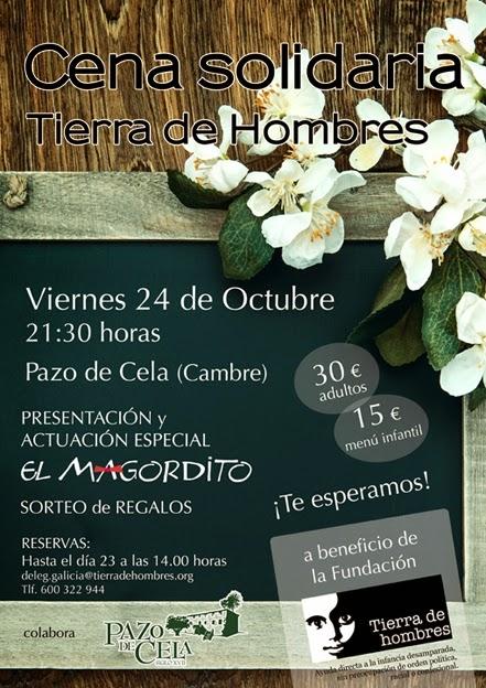 Cena solidaria en Galicia a favor de Tierra de hombres