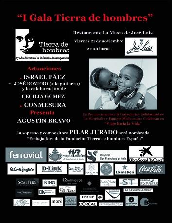«I Gala Tierra de hombres» en Madrid. Viernes 21 de noviembre. 21:00 horas