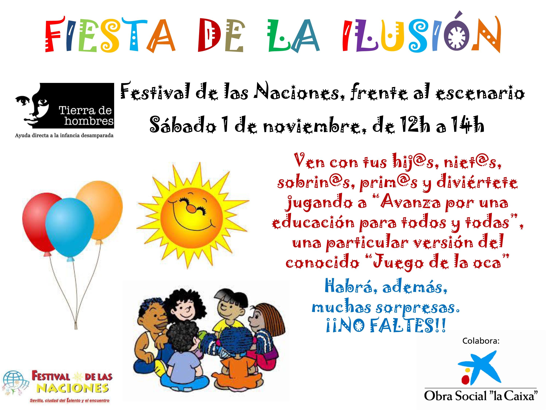 Tierra de hombres organiza la «Fiesta de la ilusión» en Sevilla
