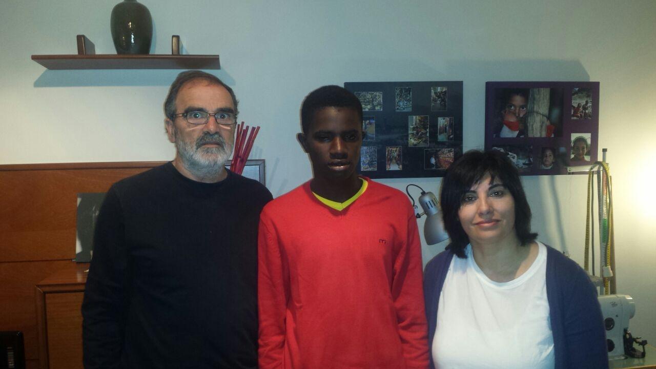 Assane ha llegado a Euskadi para operarse del corazón dentro de nuestro programa «Viaje hacia la Vida»