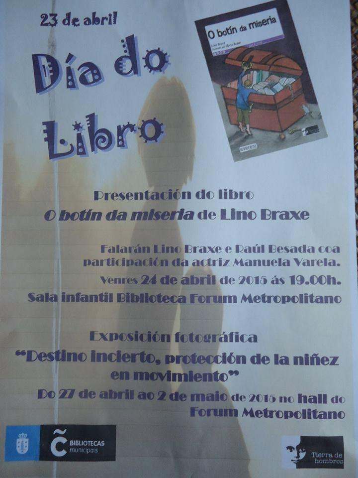 Presentación del libro «O Botín Da Miseria» de Lino Braxe