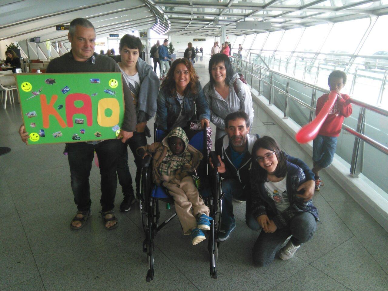 Moussa ba  ha llegado a  Euskadi para ser intervenido dentro de nuestro programa «Viaje hacia la Vida»