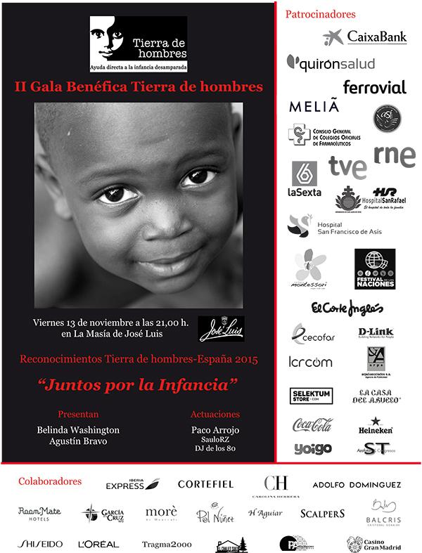 Fundación Tierra de hombres celebra su II Gala Benéfica en Madrid con la entrega de los reconocimientos «Juntos por la Infancia»