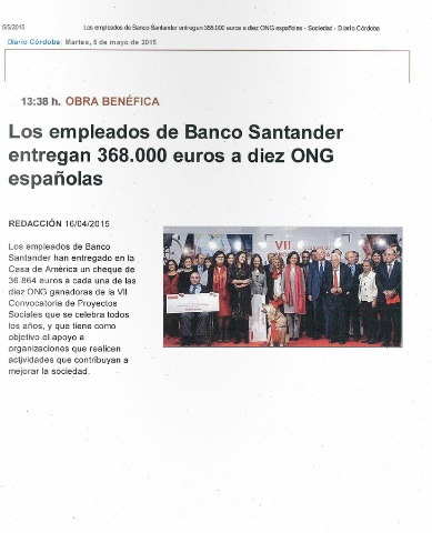 PRESS CLIPPING PREMIO BANCO SANTANDER