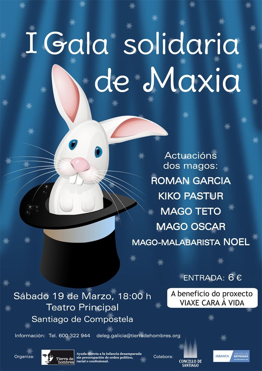 I Gala Solidaria de Magia en Santiago. 19 de marzo