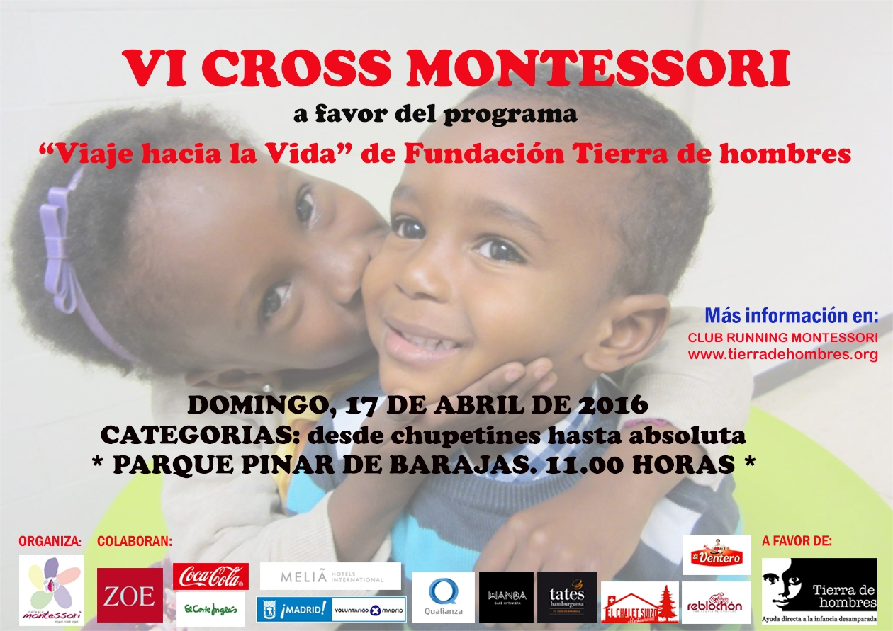 VI Cross Montessori. Domingo 17 de abril. 11:00 horas