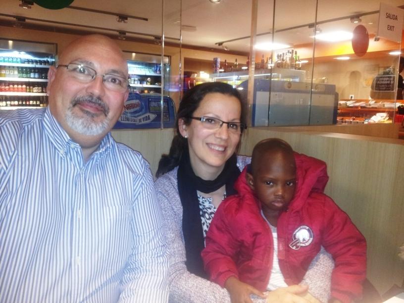 Mouhamed llega a Córdoba para operarse del corazón