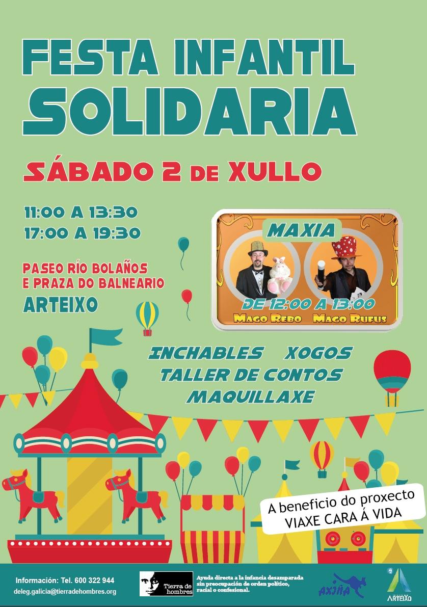 Fiesta infantil solidaria en A Coruña a beneficio de Tierra de hombres