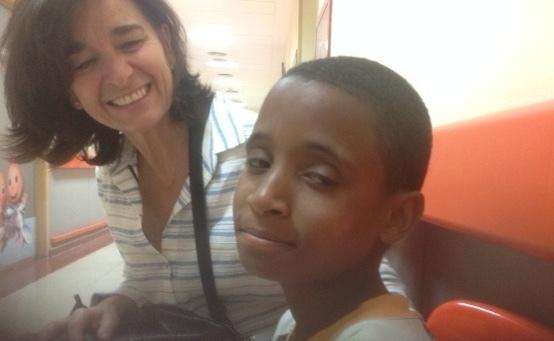 Alioune vuelve a Madrid cinco años después para ser tratado de nuevo