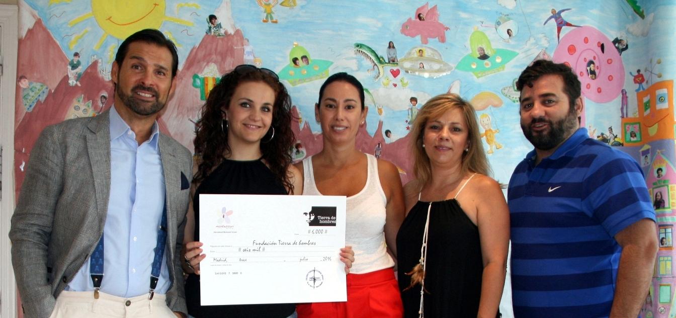 El Colegio Montessori Parque Conde de Orgaz entrega a Tierra de hombres un cheque por valor de 6000 euros