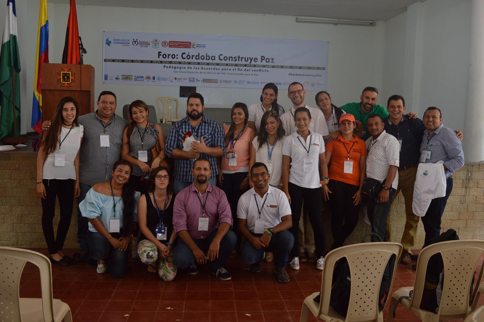 Colombia: Tierra de hombres participa en el Foro «Córdoba Construye Paz»