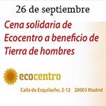 Cena solidaria en Ecocentro Madrid – 26 de septiembre
