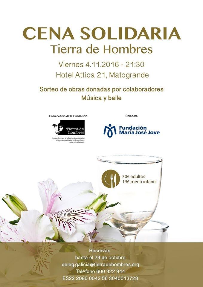 Cena Solidaria en A Coruña a favor de Tierra de hombres