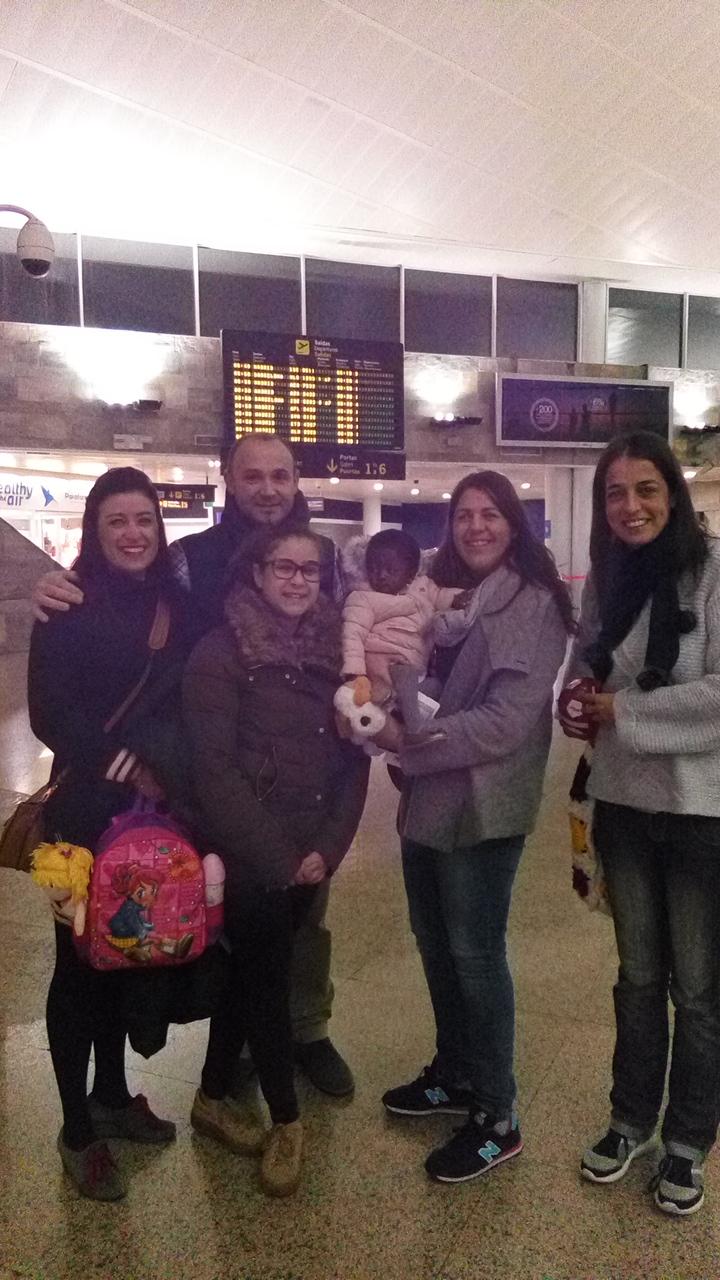 Deborah con Familia acogida