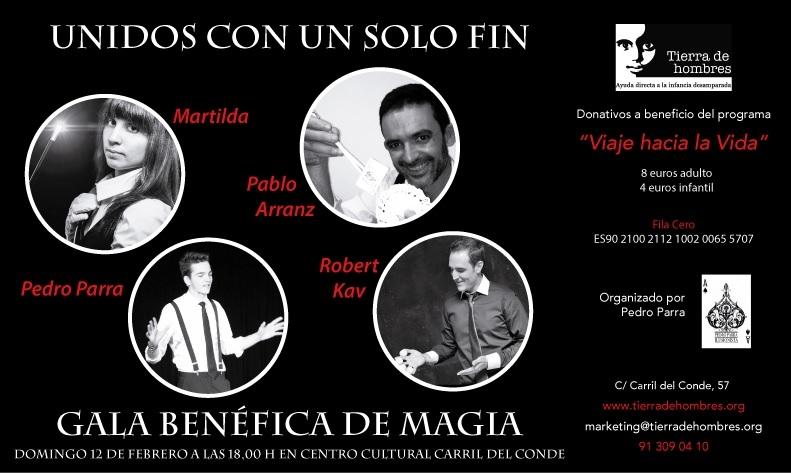 12 de febrero. Magia en Madrid por la infacia de Tierra de hombres