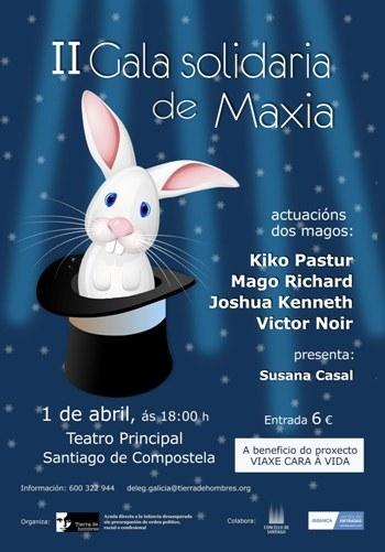 """La """"II Gala Solidaria de Magia"""" llega el 1 de abril a Santiago de Compostela"""