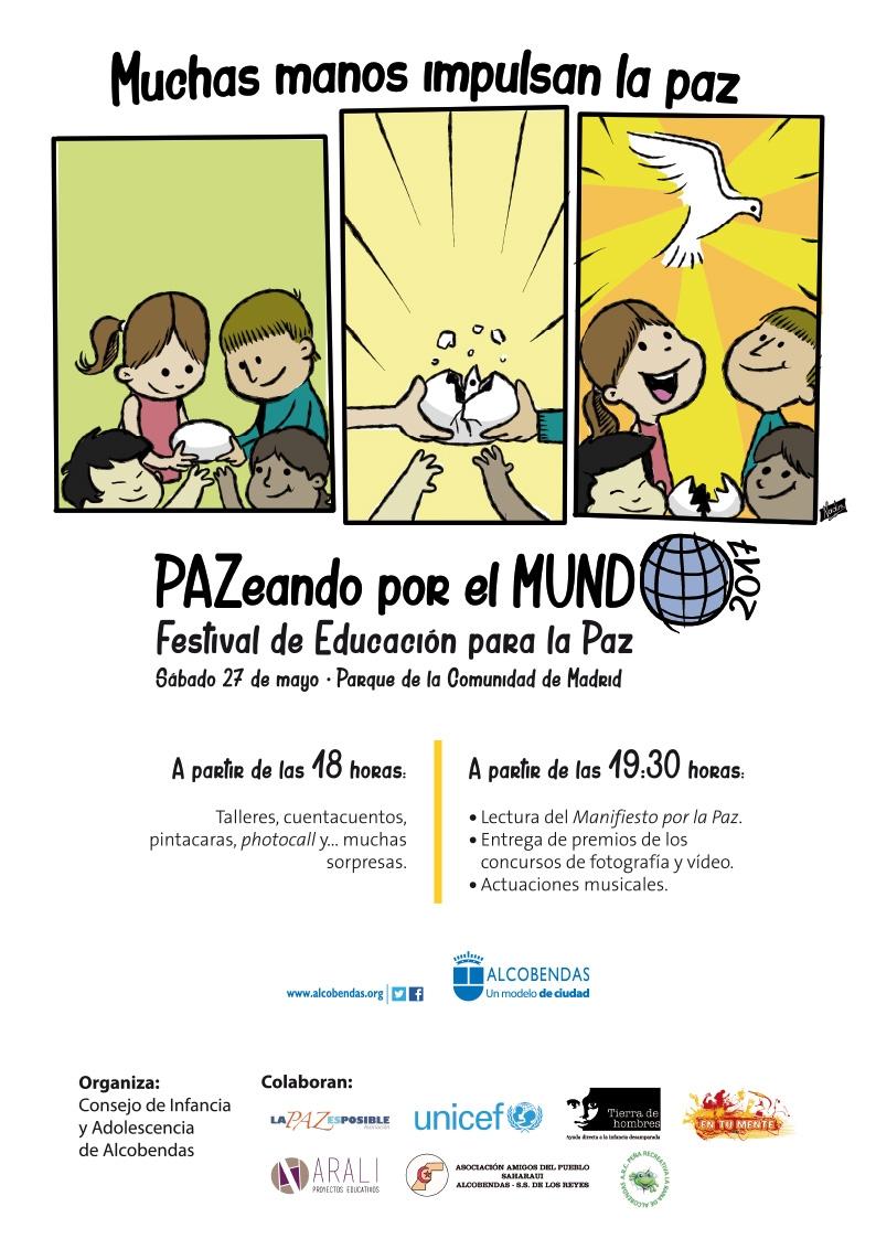 Tierra de hombres «Juega a la Oca con valores» en el Festival de Educación para la  Paz. 27 de mayo. Madrid