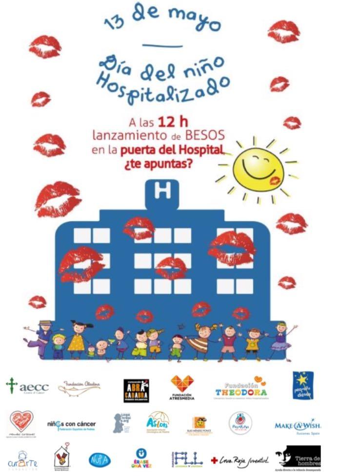 Fundación Tierra de hombres y la Fundación ATRESMEDIA, junto a otras 18 entidades, lanzan besos para celebrar el Día del Niño Hospitalizado