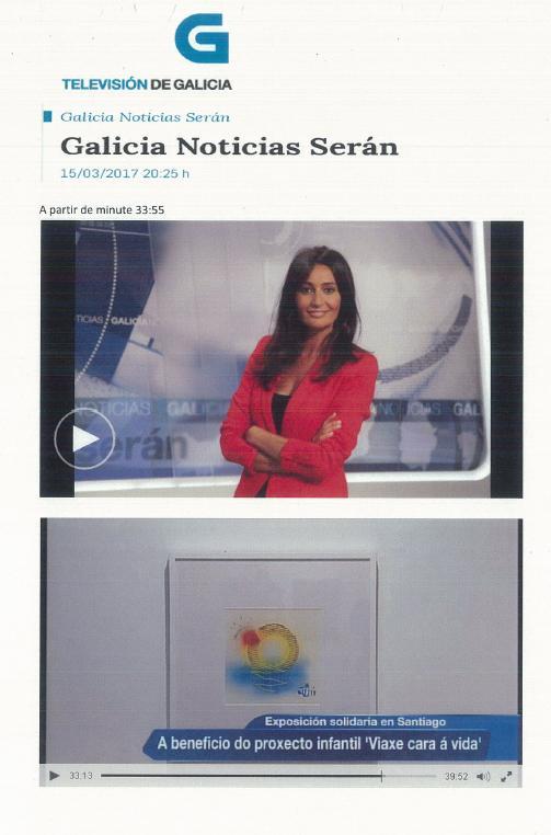 Pantallazo Exposición solidaria Galicia