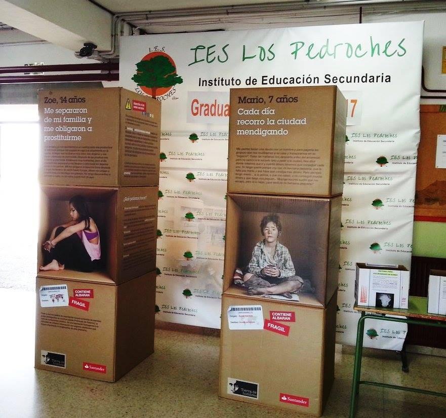La exposición «Stop a la Trata Infantil: somos Niñ@s, no mercancías» se despide tras 15 días de muestra