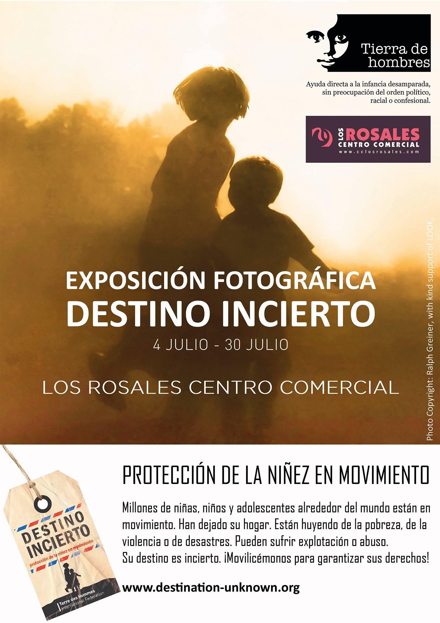 Ven a visitar la exposición «Destino incierto» en el Centro Comercial Los Rosales de A Coruña