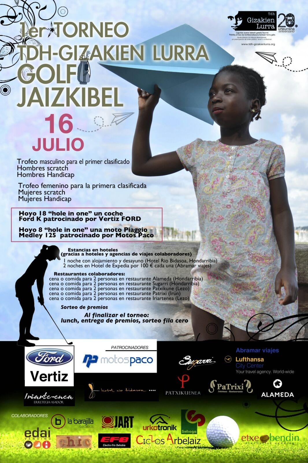 """Euskadi acoge el primer torneo de golf solidario a favor de la infancia de """"Viaje hacia la Vida"""""""