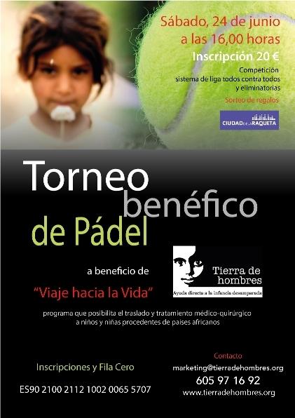 1 de octubre. I Torneo de Pádel Benéfico en Madrid