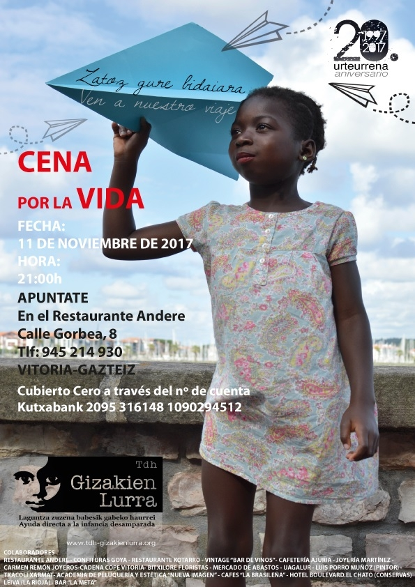 11 de noviembre. Cena por la vida en Vitoria-Gazteiz
