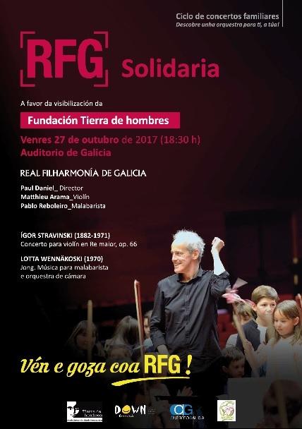 La Real Filarmónica de Galicia, con Tierra de hombres