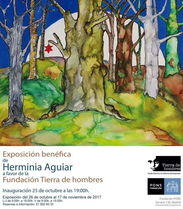 Exposición benéfica de Herminia Aguiar en Fundación Pons