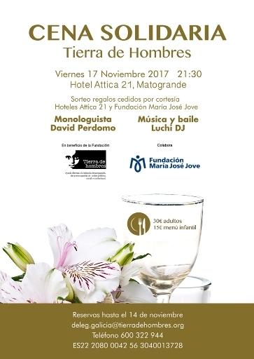Cenas solidarias en A Coruña y Santiago