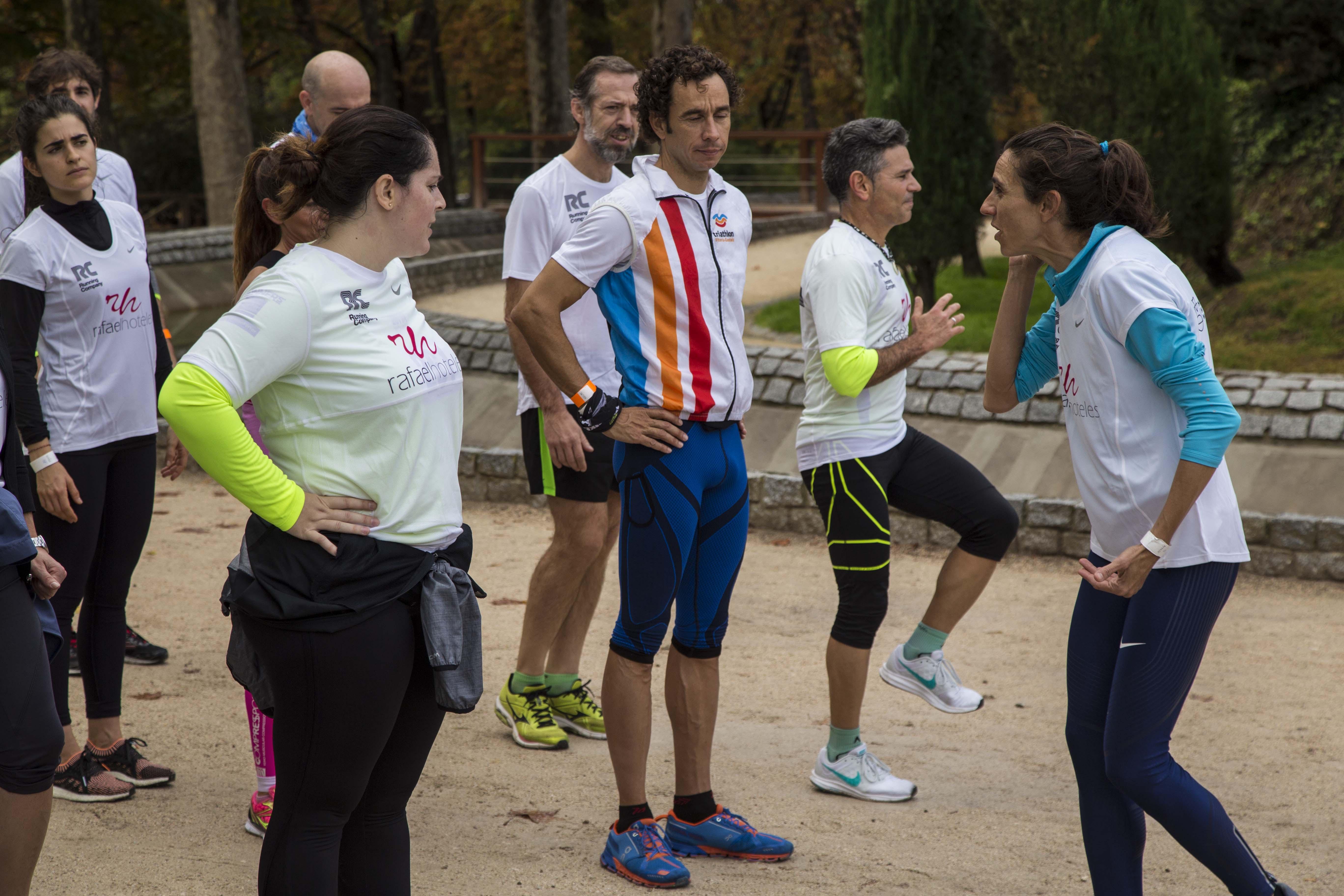 Entrenamiento solidario con la atleta olímpica Nuria Fernández en la I Running Master Class de Rafaelhoteles