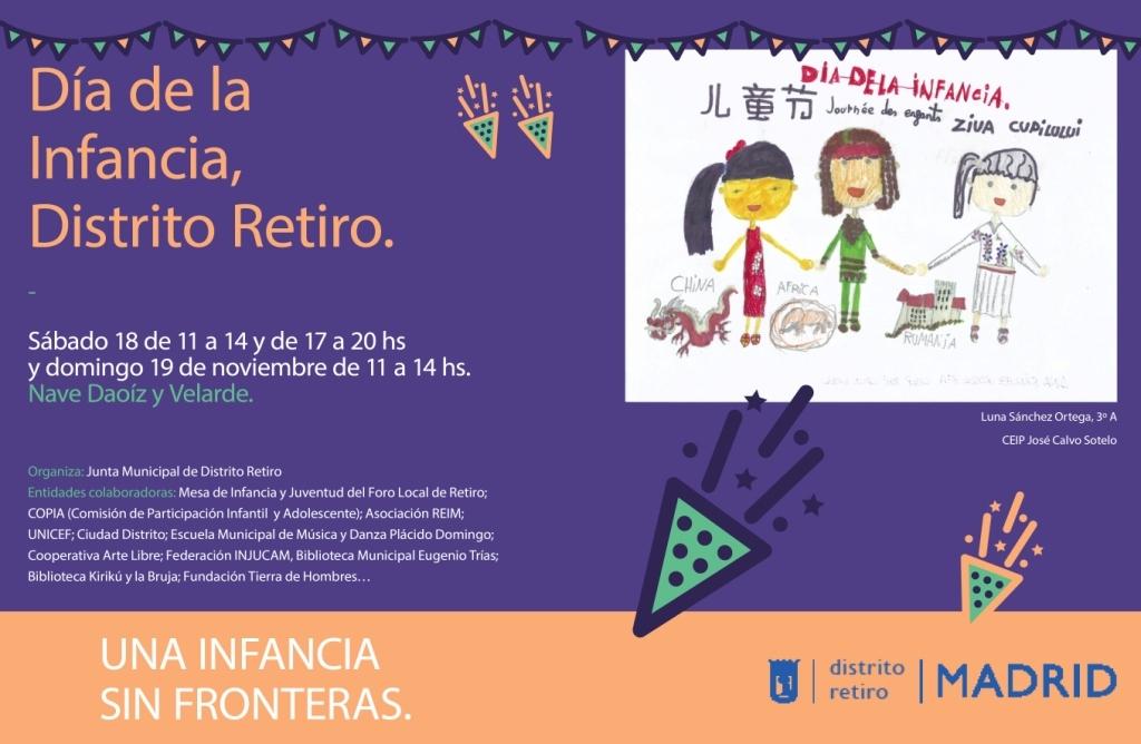 Juega a la Oca en Madrid en el Día de los Derechos de la Infancia