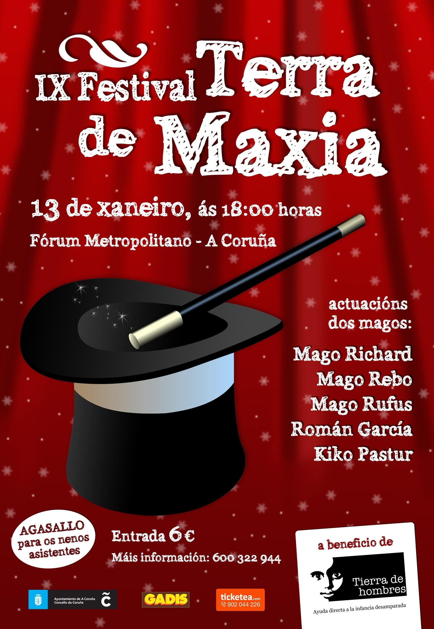 13 de enero: IX Festival Terra de Maxia en A Coruña
