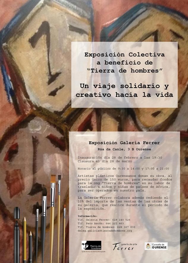 """La Exposición Solidaria """"Unha viaxe solidaria e creativa a vida"""" llega a Ourense"""