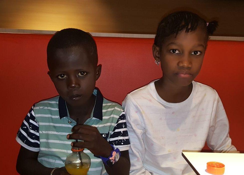 Un corazón para Adame y Sekou