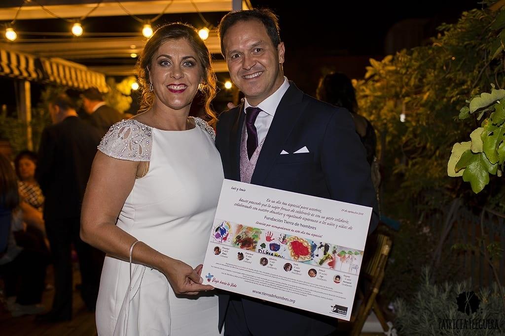Un regalo solidario en la boda de Sonia y Luis