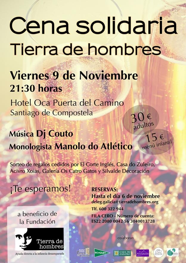 Santiago y A Coruña celebran sus cenas solidarias