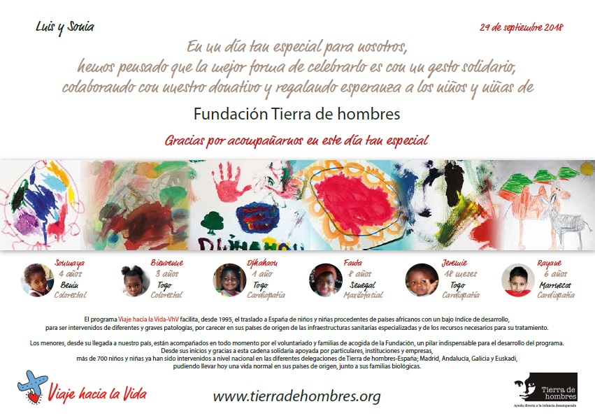 fotnot madrid boda solidaria cartel ayuda infancia