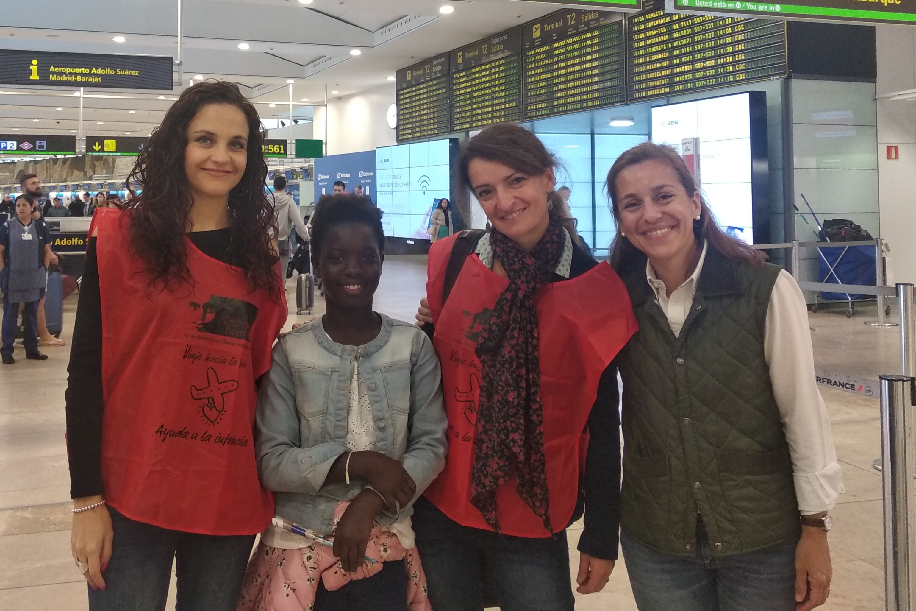 fotnot visita sibile madrid aeropuerto ayuda infancia