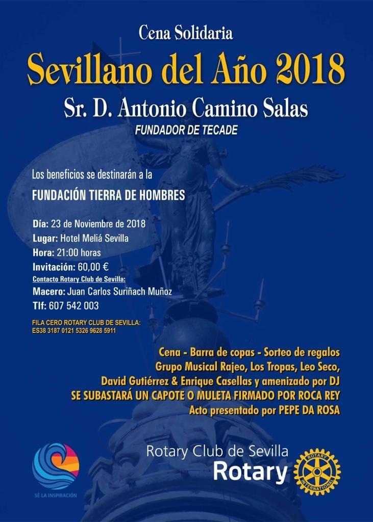 Rotary Club de Sevilla celebra una cena solidaria a beneficio de Tierra de hombres