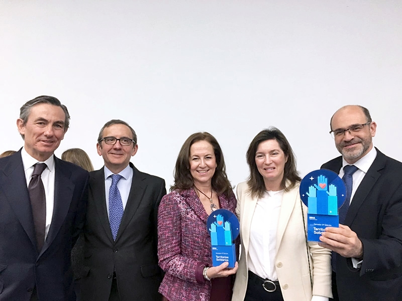 """Premio Territorios Solidarios de BBVA al proyecto """"Viaje hacia la Vida"""" de la Fundación Tierra de hombres"""