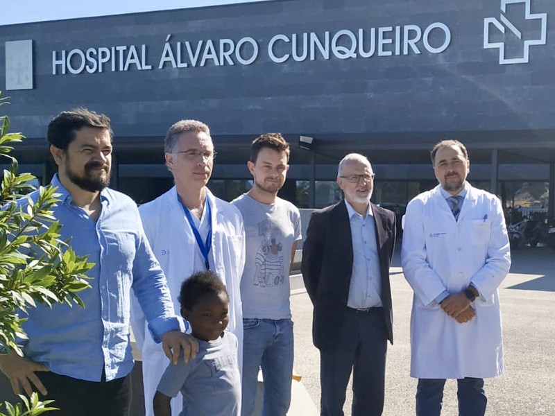 Despedida de Alkaly en el Hospital Álvaro Cunqueiro de Vigo