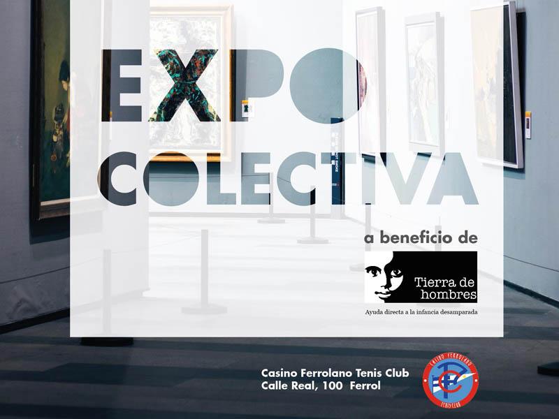 Exposición colectiva solidaria a favor de la Fundación Tierra de hombres en Ferrol